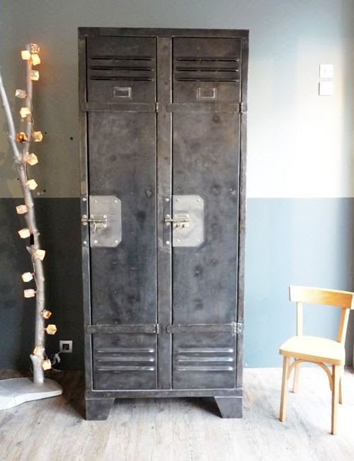 "How about vintage lockers in the breakroom to give employees a place to keep all their ""stuff"".....old school!"