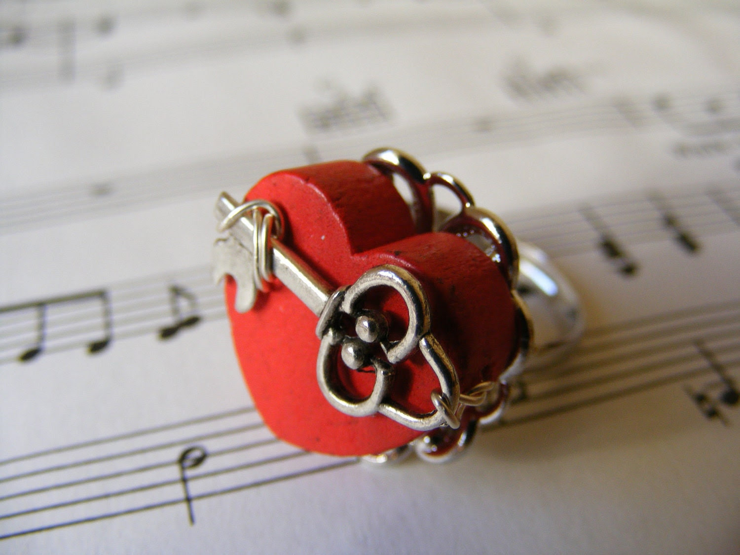 Ring Key To My Heart Ring