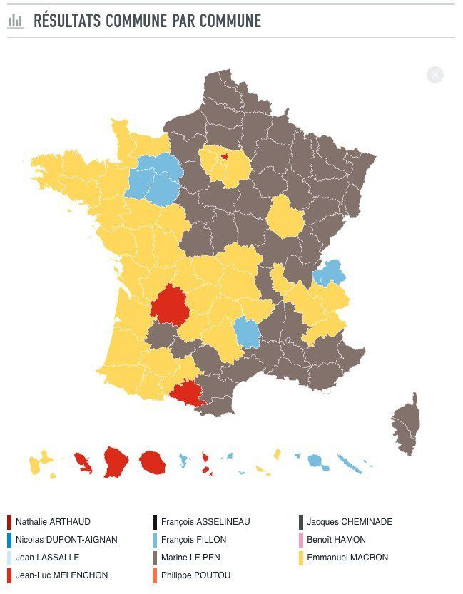 election presidentielle carte de france Carte : Carte De France Des Elections 2017