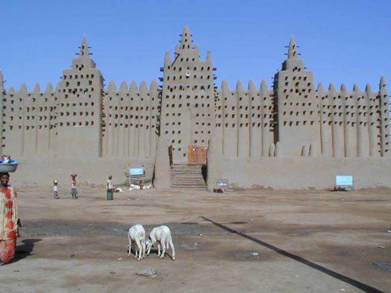 3. В Мали находится Великая мечеть Дженне архитектура, африка, интересно, как живут люди, племена Африки, фото