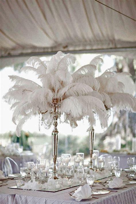 25  best Feather Wedding Centerpieces ideas on Pinterest