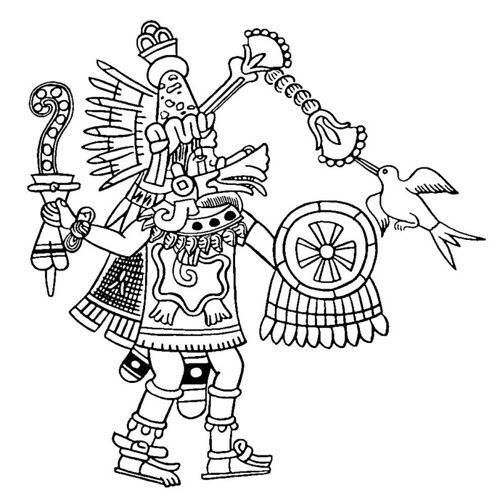 South American native drawing