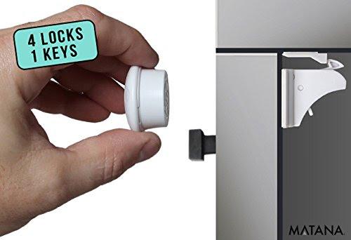 Unsichtbare Magnetis 4Er Magiclock Kindersicherung Schrank Schubladensicherung