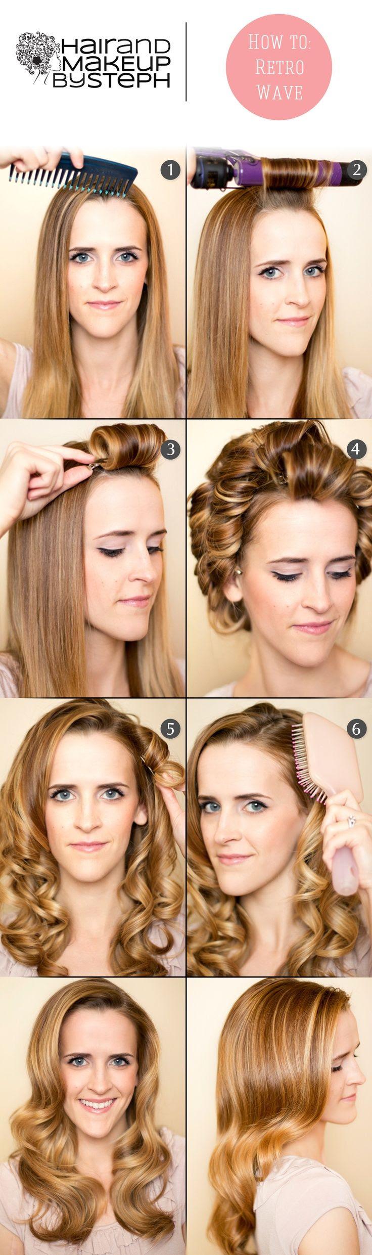 20 Stylish Retro Wavy Hairstyle Tutorials And Hair Looks Pretty