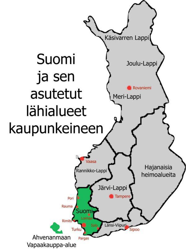 Länsi-Suomi Kartta
