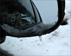 Rear-view icicle