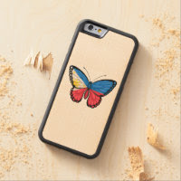 Filipino Butterfly Flag Carved® Maple iPhone 6 Bumper Case