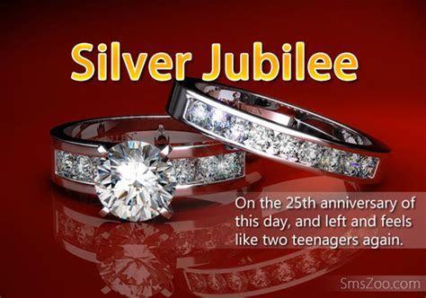 Silver Jubilee Anniversary Wishes   Wedding Anniversary