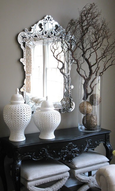 Console Table Detail - eclectic - entry - new york - by Interiors ...