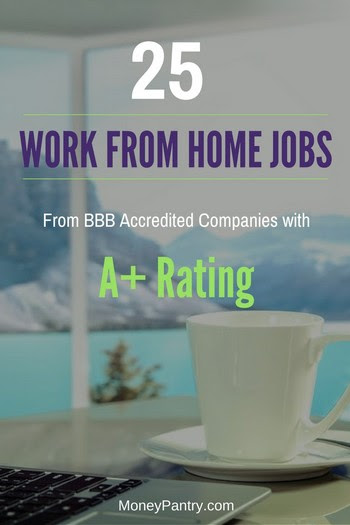Top work from home companies with A+ rating form the BBB.