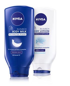 nivea body lotion in dusch