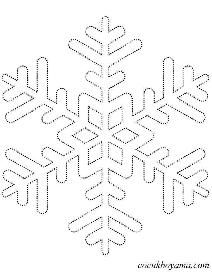 Kar Tanesi 27 ücretsiz Boyama Resimleri