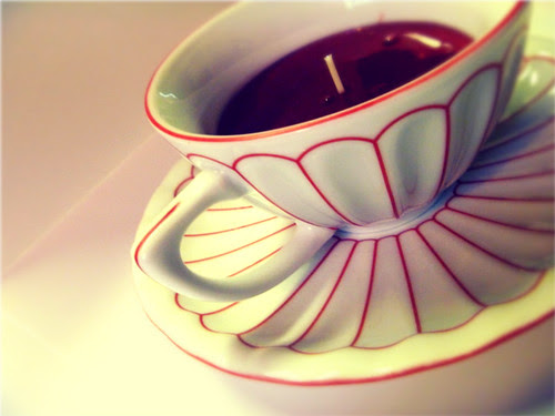 DIY Tea Cup Candle by Olive Oil Lady