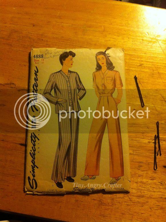 vintage pajama sew along pattern