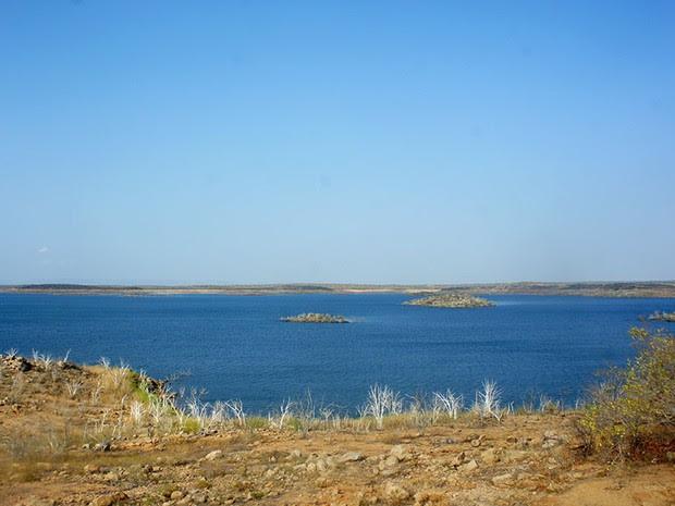 Barragem de Santa Cruz, em Apodi  (Foto: Anderson Barbosa/G1)
