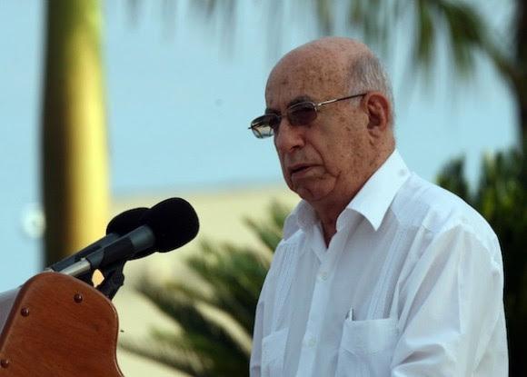 José Ramón Machado Ventura en Ciego de Ávila. Foto: Ismael Francisco