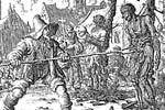 Murder of David van der   Leden.., 1554. Martelaers Spiegel