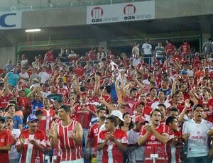 América-RN x Vitória, na Arena das Dunas, pela Copa do Nordeste (Foto: Augusto Gomes)