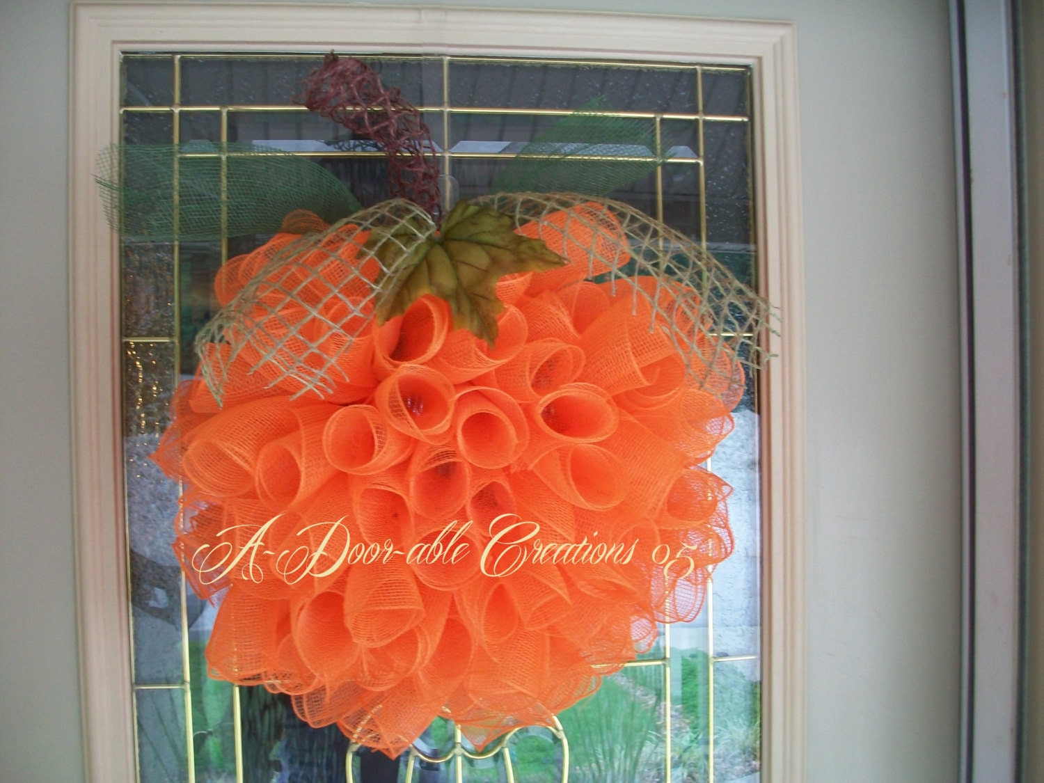 SPIRAL PUMPKIN WREATH - ADoorableCreations05