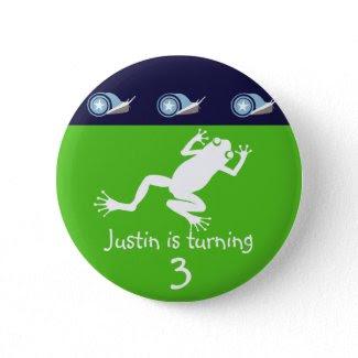 Frog Birthday Button button