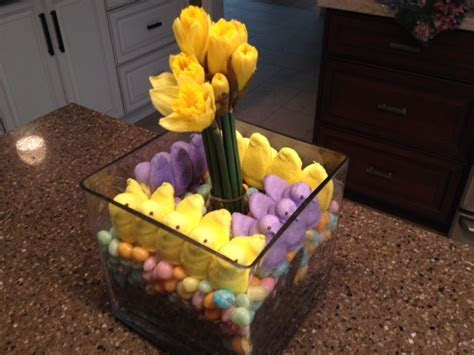 Easy DIY Spring Centerpiece with Easter Candy