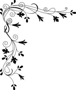 Stylized Flowers Border Clipart   i2Clipart   Royalty Free