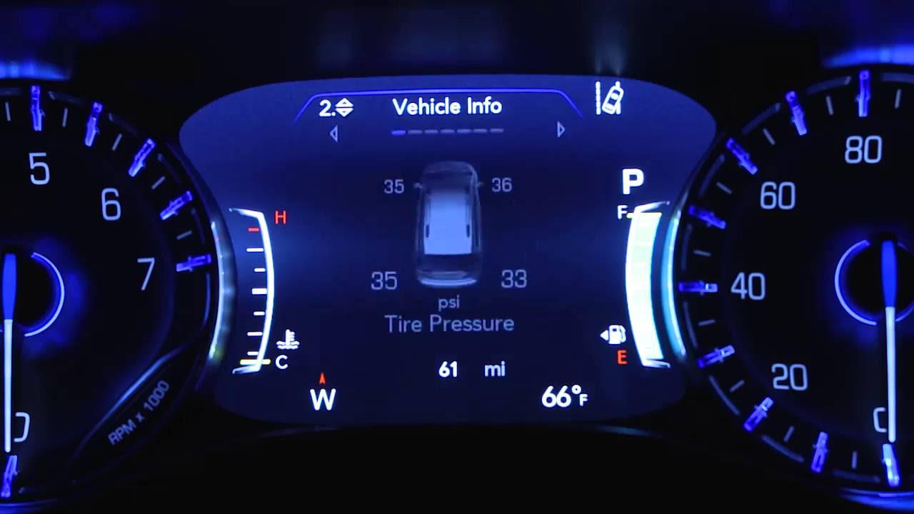Instrument Cluster Display Digital Dashboard On The Car Instrument Panel Of 2017 Chrysler