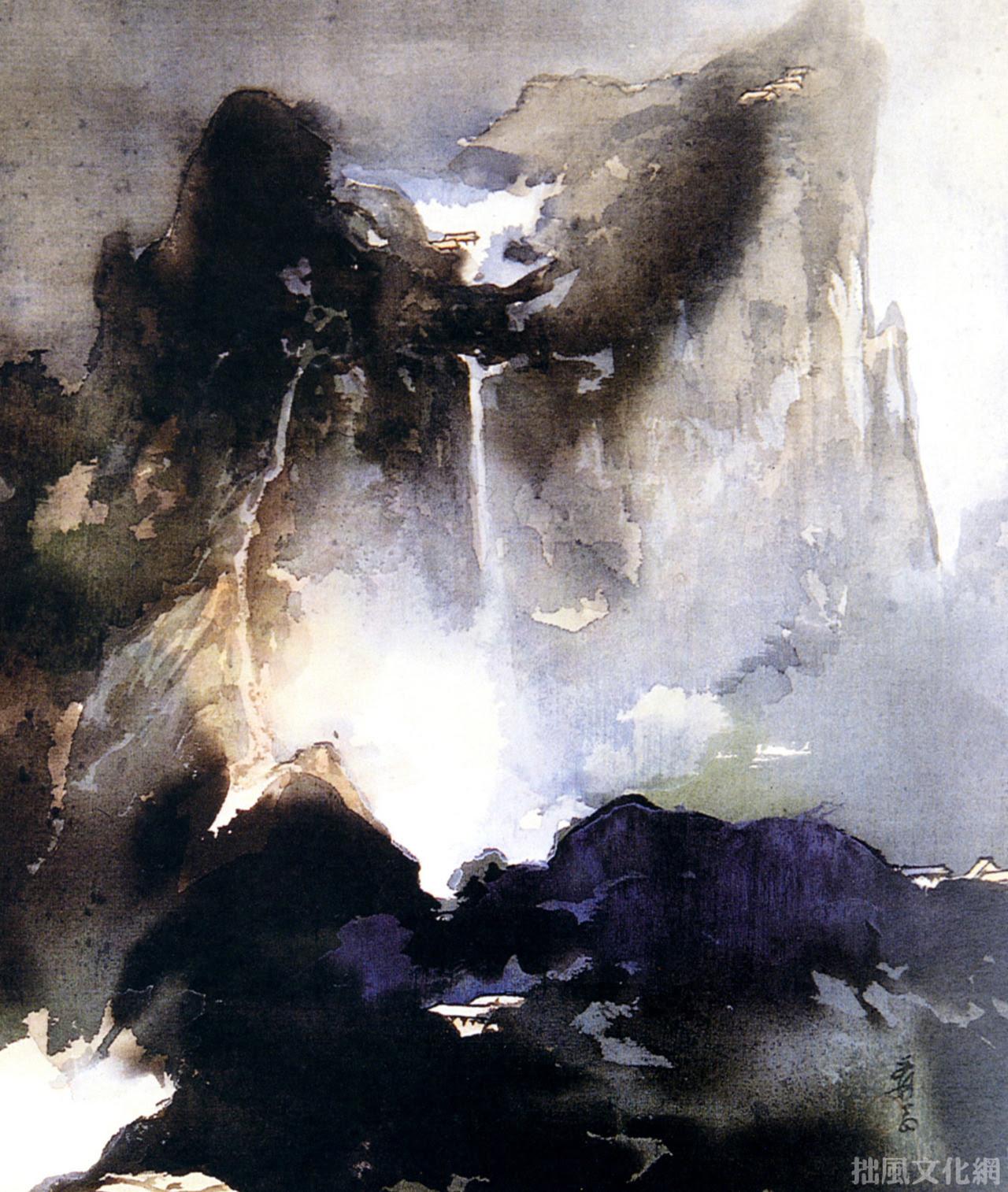 Zhang Daqian(張大千 Chinese, 1899-1983) 華山小景