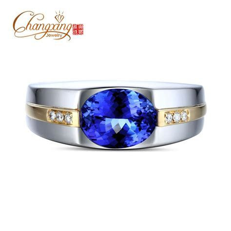 1.85ct AAA Flashing Blue Tanzanite Diamond Mens Engagement