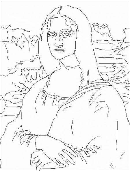 Coloriage Leonardo Da Vinci 1452 1519 Momesnet