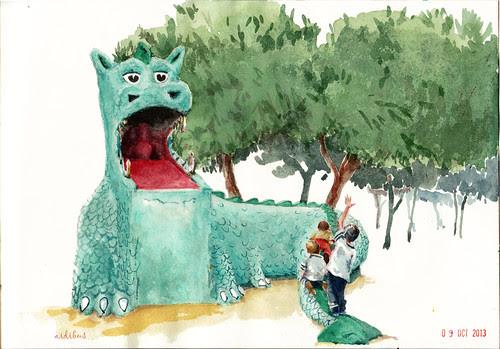 El dragón de la Elipa by aidibus