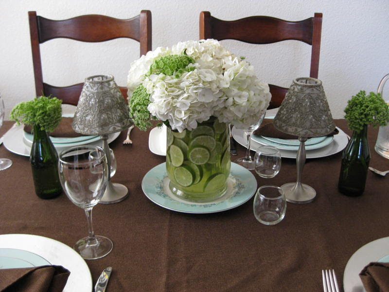 Green And White Wedding Centerpieces Decor Wedding Decorations