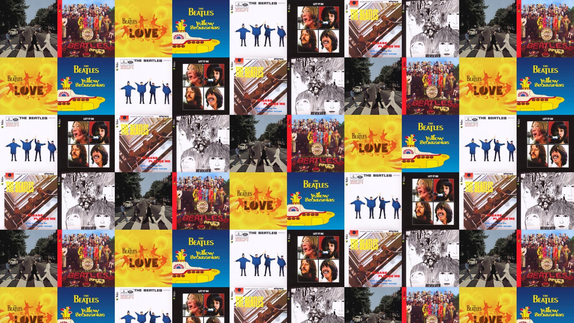 Beatles Abbey Road Sergent Pepper Beatles Love Wallpaper Tiled