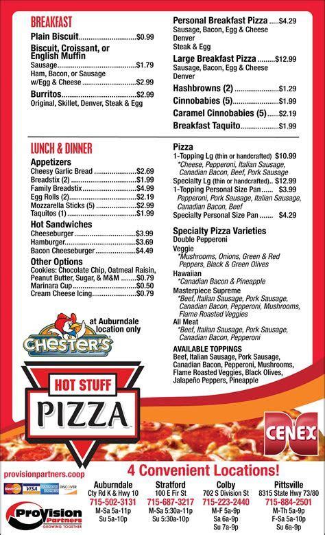 Hot Stuff Pizza   Cenex Convenience Store   Menu