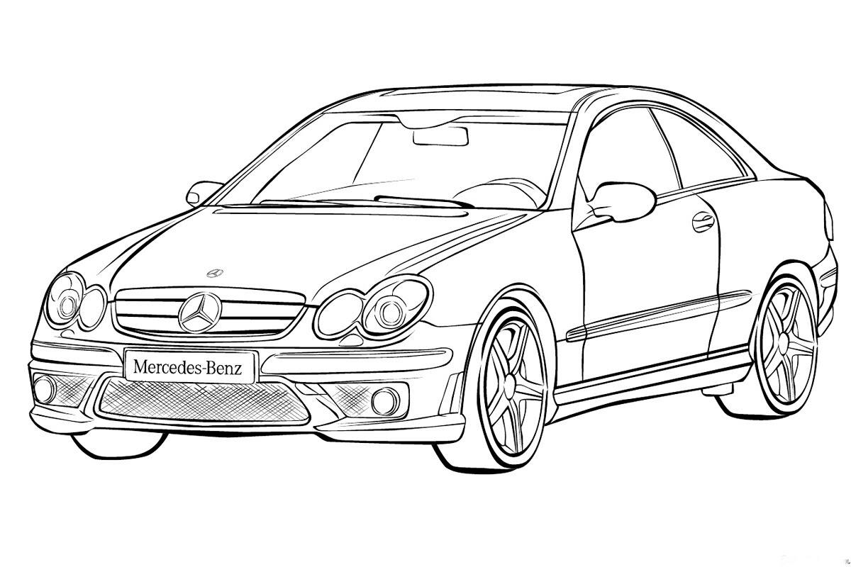 Mercedes Araba Boyama Sayfasy Resim Cizmek