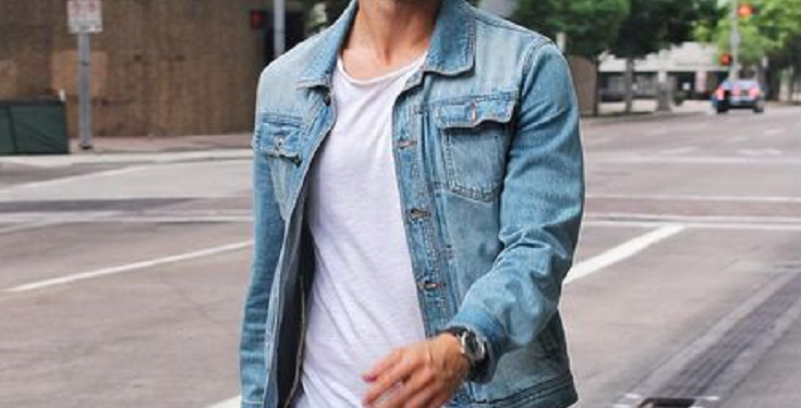 Black Jeans Denim Jacket Outfit Mens