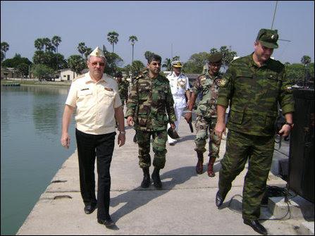 Russian, Iranian and Bangladeshi military officials visit Jaffna