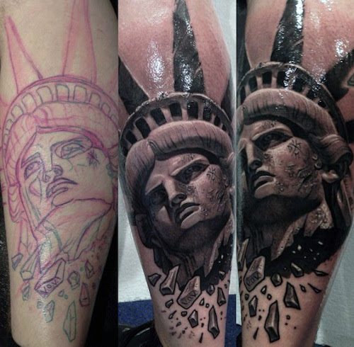 Statue Of Liberty Tattoos Designs Ideas And Meaning Tattoos For You