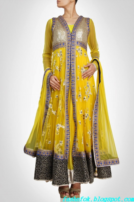 Anarkali-Gorgeous-Bridal- Wedding-Ankle-Length-Dress-by-Designer-Kiran-&-Shruti-Aksh-4