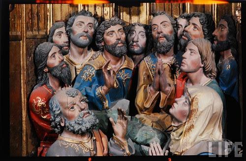 Detalle del altar mayor de la Catedral de Toledo en 1963. Fotografía de Dmitri Kessel. Revista Life (4)