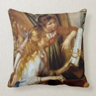 Girls at the Piano throwpillow
