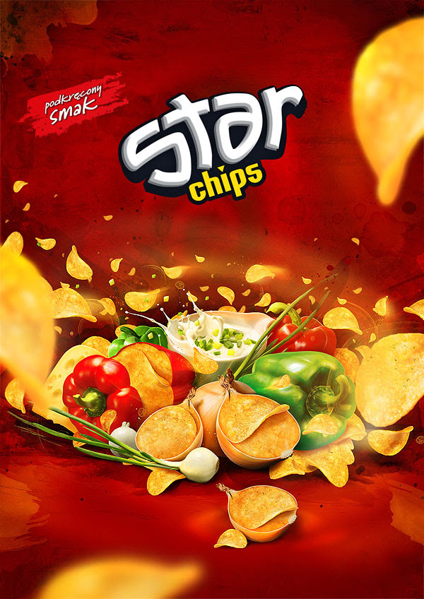 Star Chips design 30+ Crispy Potato Chips Packaging Design Ideas