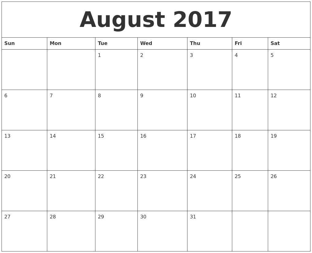 November 2017 Printable November Calendar