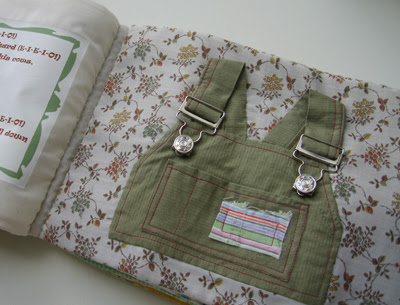 Close Your Clothes book - overalls clasps page