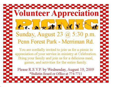 volunteer appreciation picnic invitation ps aug2309