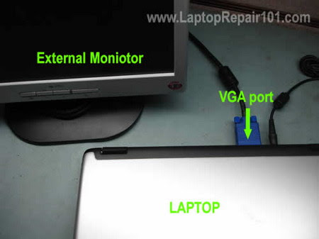 Connect external monitor
