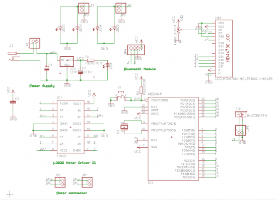 2WD Electric Car schematic