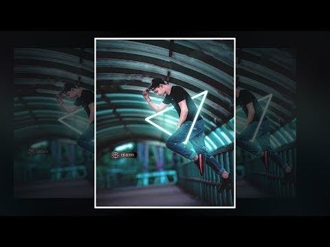 Triangle Effect Neon photo light effect Photoshop Tutorial