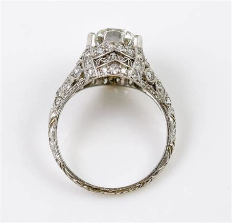 Edwardian GIA Cert 1.87 Carat Diamond Platinum Engagement