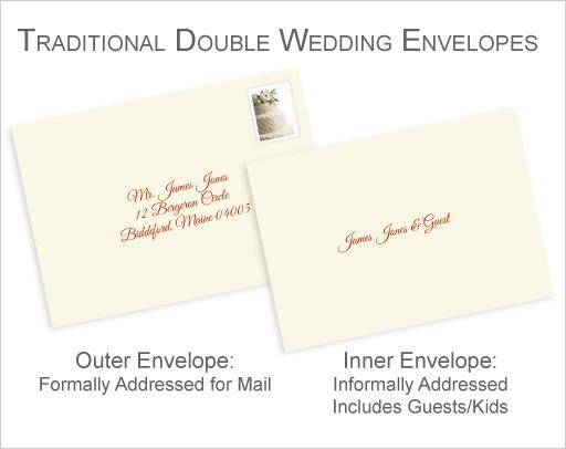informal envelope formats